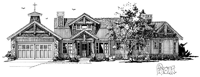 Cottage, Country, Craftsman House Plan 43238 with 3 Beds, 3 Baths, 3 Car Garage Picture 3
