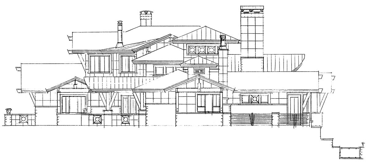 Contemporary House Plan 43248 with 4 Beds, 6 Baths, 3 Car Garage Picture 1