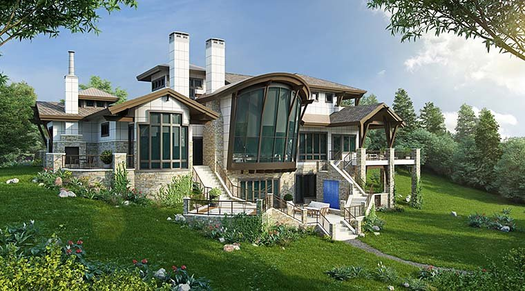 Contemporary House Plan 43248 with 4 Beds, 6 Baths, 3 Car Garage Picture 5