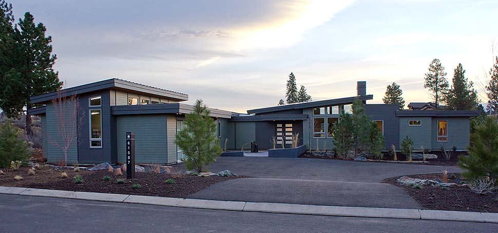 Contemporary, Modern House Plan 43314 with 3 Beds, 4 Baths, 2 Car Garage Elevation