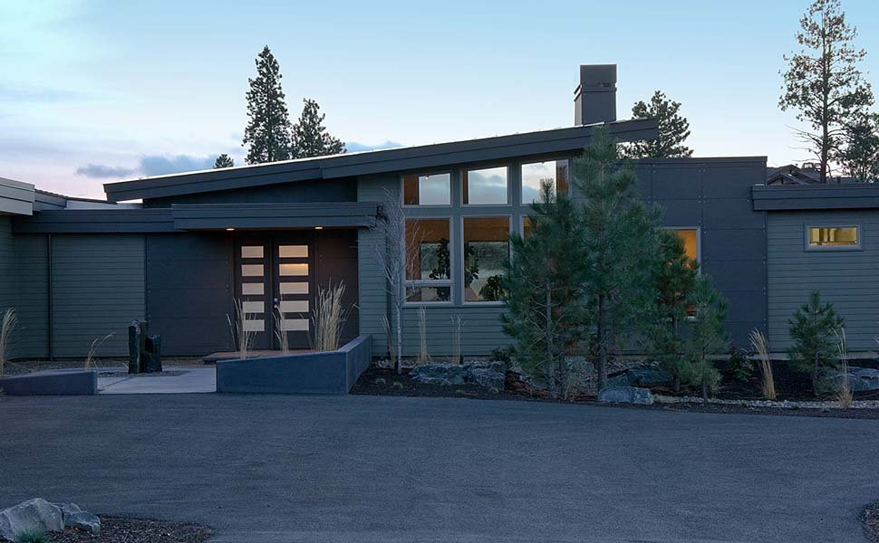 Contemporary, Modern House Plan 43314 with 3 Beds, 4 Baths, 2 Car Garage Picture 2