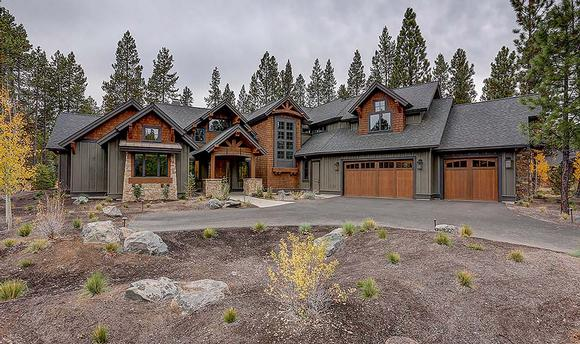 Country, Craftsman House Plan 43326 with 5 Beds, 6 Baths, 3 Car Garage Elevation