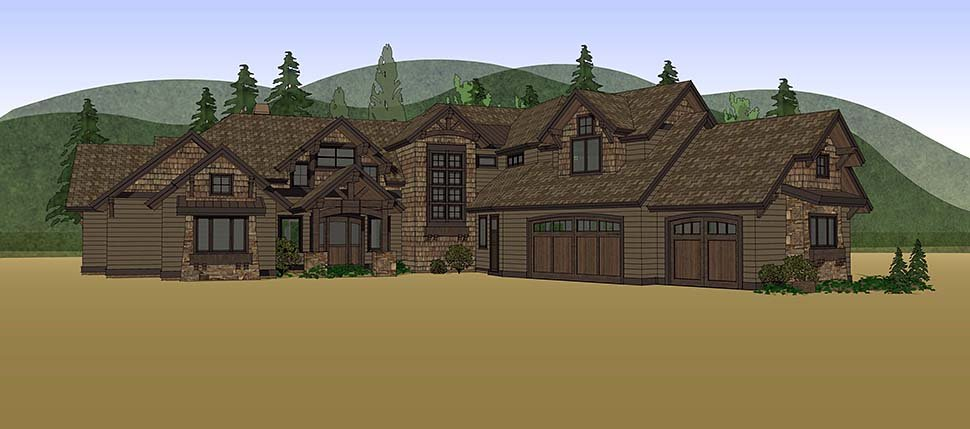 Country, Craftsman House Plan 43326 with 5 Beds, 6 Baths, 3 Car Garage Picture 14
