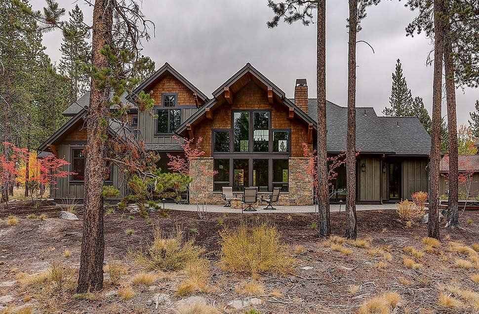 Country, Craftsman House Plan 43326 with 5 Beds, 6 Baths, 3 Car Garage Rear Elevation