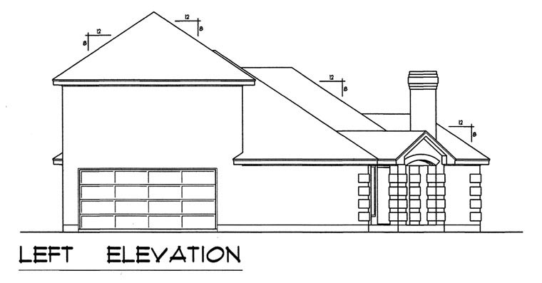 European, Traditional House Plan 44173 with 3 Beds, 2 Baths, 2 Car Garage Picture 1