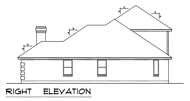 European, Traditional House Plan 44173 with 3 Beds, 2 Baths, 2 Car Garage Picture 2