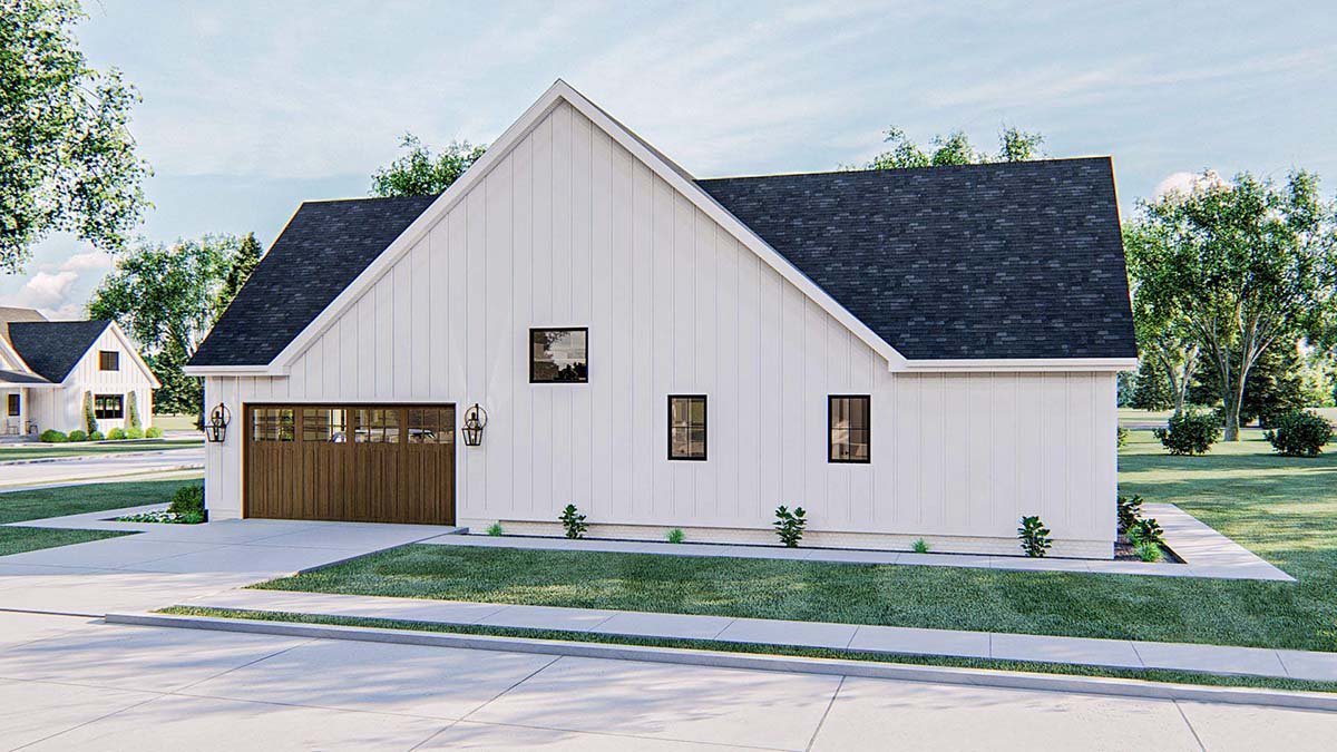 Farmhouse House Plan 44220 with 4 Beds, 3 Baths, 2 Car Garage Picture 1