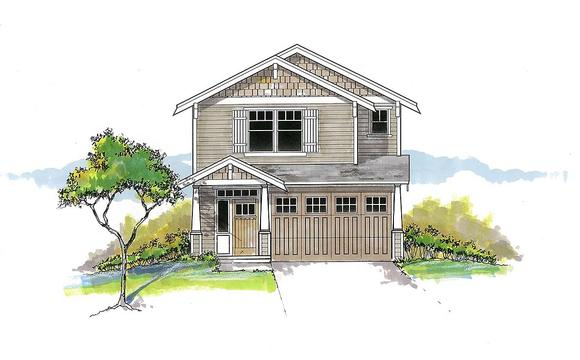 Craftsman, Traditional House Plan 44403 with 4 Beds, 3 Baths, 2 Car Garage Elevation