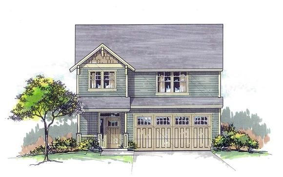 Country, Craftsman, Farmhouse, Southern, Traditional House Plan 44683 with 3 Beds, 3 Baths, 2 Car Garage Elevation