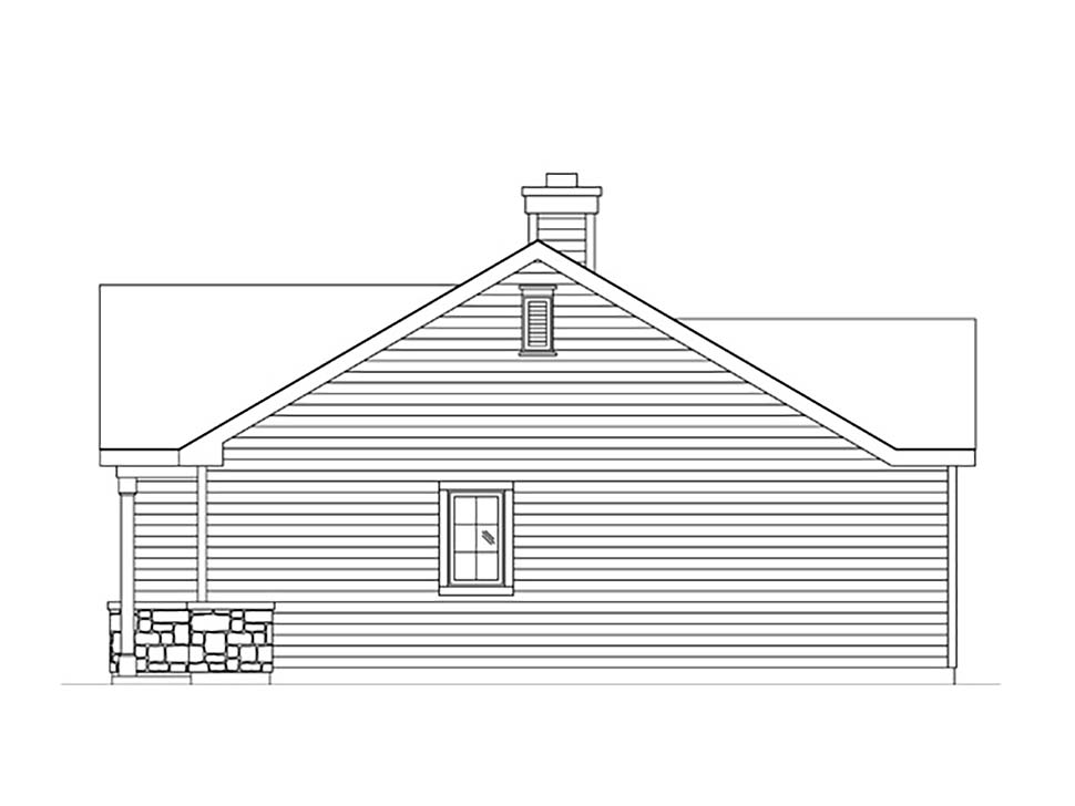 Bungalow, Cottage, Narrow Lot, One-Story House Plan 45185 with 1 Beds, 1 Baths Picture 1