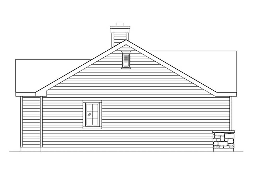 Bungalow, Cottage, Narrow Lot, One-Story House Plan 45185 with 1 Beds, 1 Baths Picture 2