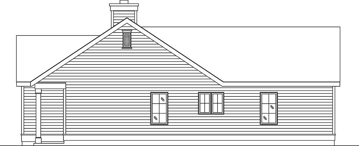 Narrow Lot, One-Story House Plan 45188 with 1 Beds, 1 Baths, 1 Car Garage Picture 1