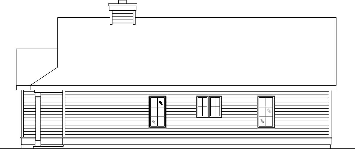Narrow Lot, One-Story House Plan 45189 with 2 Beds, 1 Baths, 1 Car Garage Picture 1
