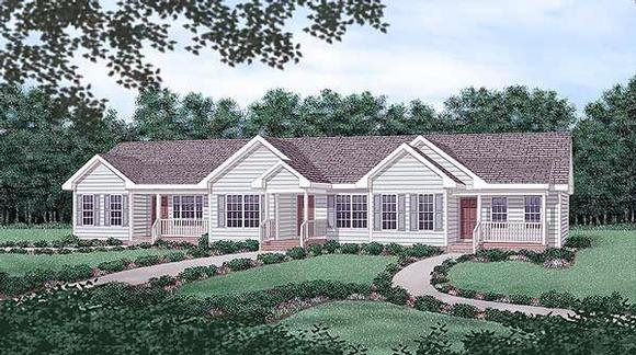 Multi-Family Plan 45364 with 6 Beds, 3 Baths Elevation