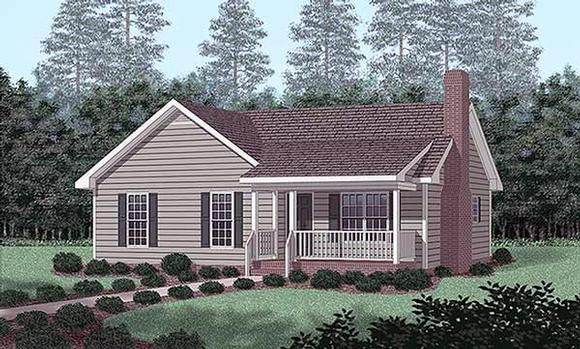 Traditional House Plan 45391 with 3 Beds, 2 Baths Elevation