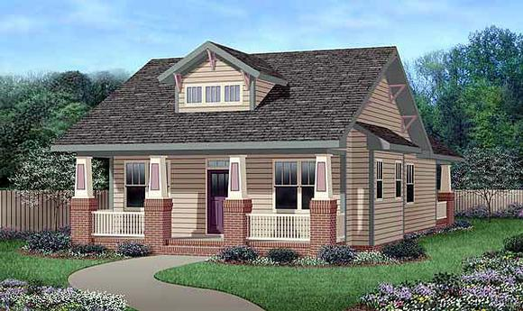 Bungalow, Craftsman House Plan 45516 with 3 Beds, 2 Baths Elevation