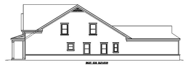 Narrow Lot, Ranch House Plan 46358 with 3 Beds, 3 Baths, 2 Car Garage Picture 2