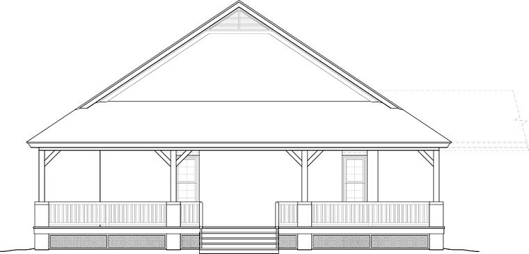 Country, Farmhouse, Ranch, Southern House Plan 46666 with 3 Beds, 2 Baths Picture 2