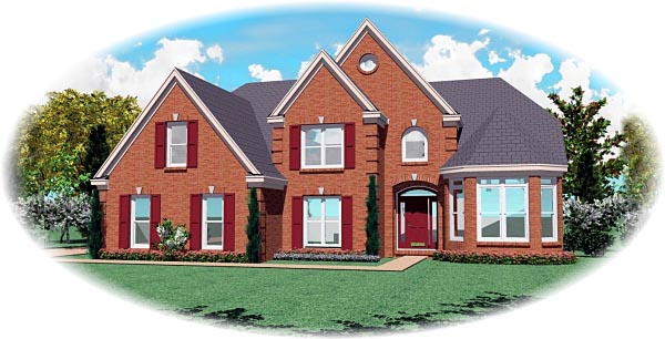 Victorian House Plan 46696 with 5 Beds, 5 Baths, 2 Car Garage Elevation