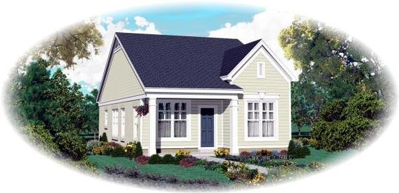 Traditional House Plan 47550 with 2 Beds, 2 Baths Elevation