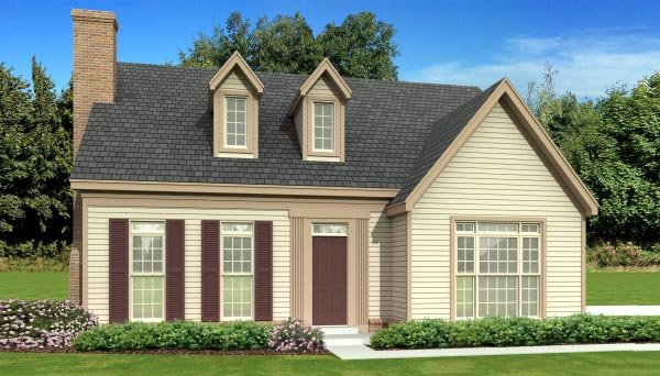 Traditional House Plan 47583 with 3 Beds, 3 Baths Elevation