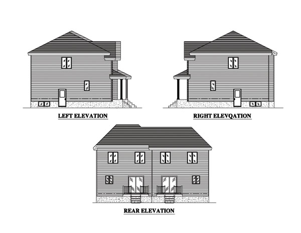 Traditional Multi-Family Plan 48244 with 6 Beds, 4 Baths Picture 1