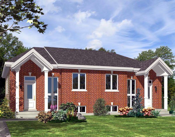 Traditional Multi-Family Plan 48247 with 4 Beds, 2 Baths Elevation
