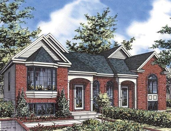 European Multi-Family Plan 48250 with 4 Beds, 2 Baths Elevation