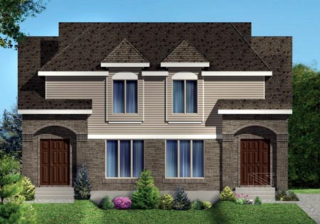 Narrow Lot Multi-Family Plan 49846 with 6 Beds, 4 Baths Elevation