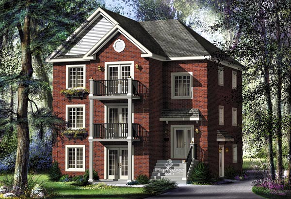 Colonial, Traditional Multi-Family Plan 49851 with 9 Beds, 3 Baths Elevation