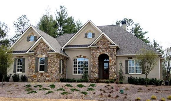 Ranch House Plan 50249 with 4 Beds, 4 Baths, 3 Car Garage Elevation