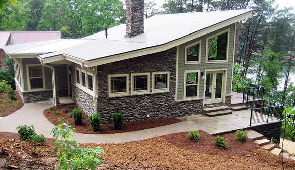 Contemporary, Craftsman, Modern House Plan 50258 with 3 Beds, 3 Baths Elevation
