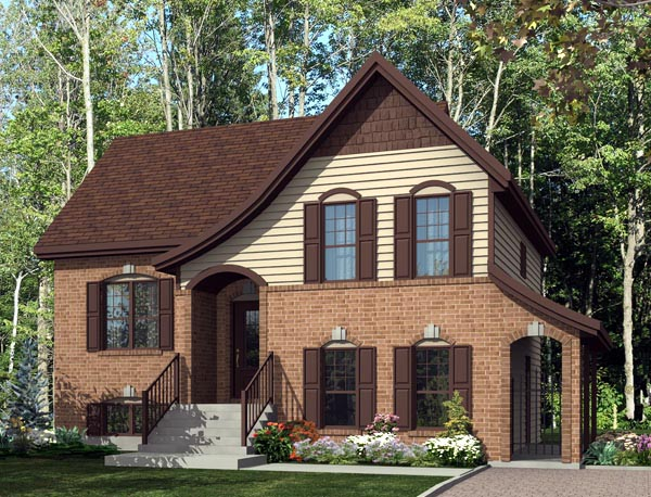 House Plan 50308 with 4 Beds, 2 Baths Elevation