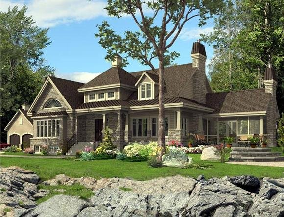 Colonial House Plan 50313 with 3 Beds, 3 Baths Elevation