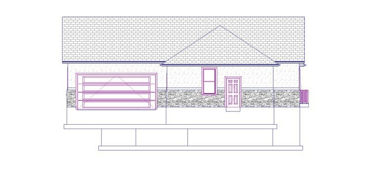 House Plan 50438 with 5 Beds, 3 Baths, 3 Car Garage Picture 2