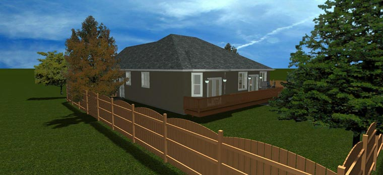House Plan 50440 with 5 Beds, 3 Baths, 2 Car Garage Picture 7