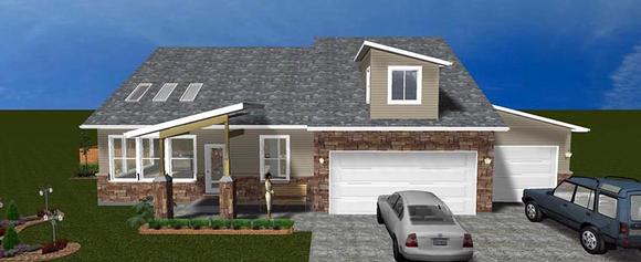 House Plan 50441 with 3 Beds, 3 Baths, 3 Car Garage Elevation