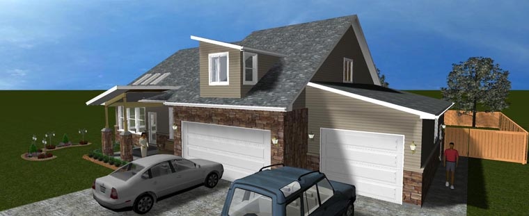 House Plan 50441 with 3 Beds, 3 Baths, 3 Car Garage Picture 6