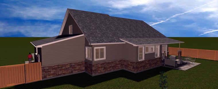 House Plan 50441 with 3 Beds, 3 Baths, 3 Car Garage Picture 7