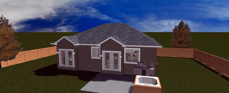 House Plan 50442 with 5 Beds, 3 Baths, 2 Car Garage Picture 10