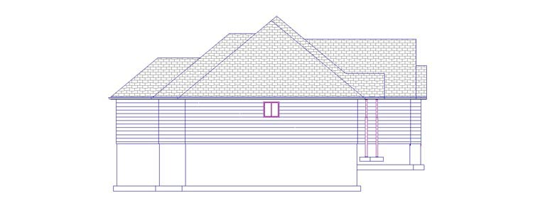 House Plan 50443 with 5 Beds, 3 Baths, 2 Car Garage Picture 1