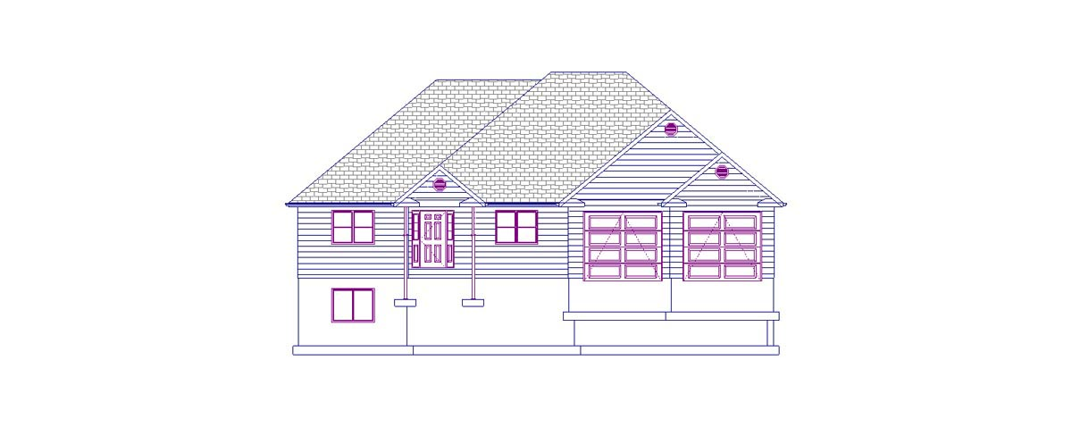 House Plan 50443 with 5 Beds, 3 Baths, 2 Car Garage Picture 3