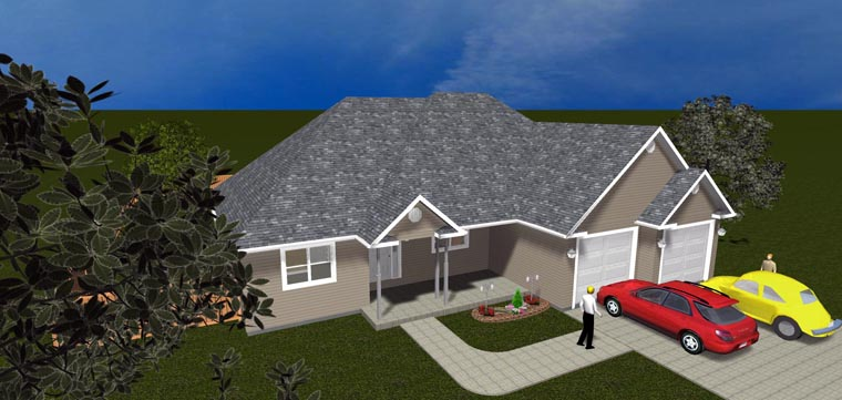 House Plan 50443 with 5 Beds, 3 Baths, 2 Car Garage Picture 9