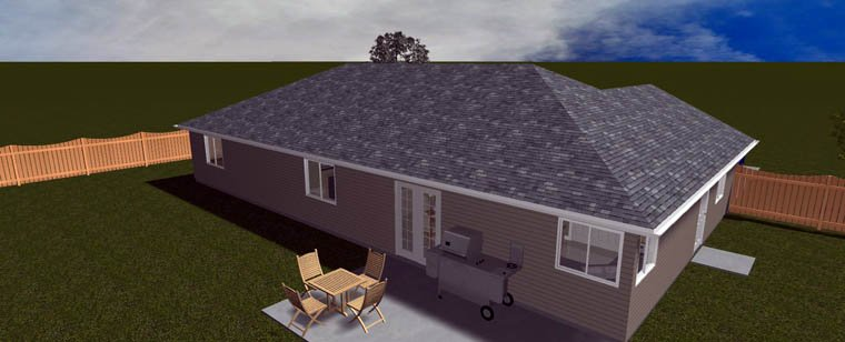 House Plan 50459 with 3 Beds, 2 Baths, 2 Car Garage Picture 13