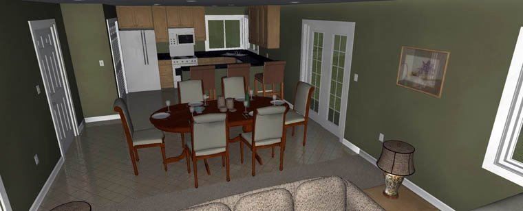 House Plan 50459 with 3 Beds, 2 Baths, 2 Car Garage Picture 6