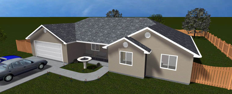 House Plan 50459 with 3 Beds, 2 Baths, 2 Car Garage Picture 7