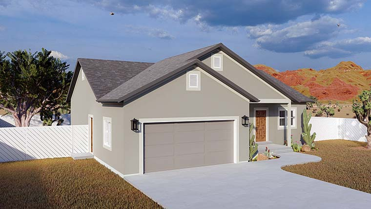 Ranch, Traditional House Plan 50534 with 5 Beds, 3 Baths, 2 Car Garage Picture 5