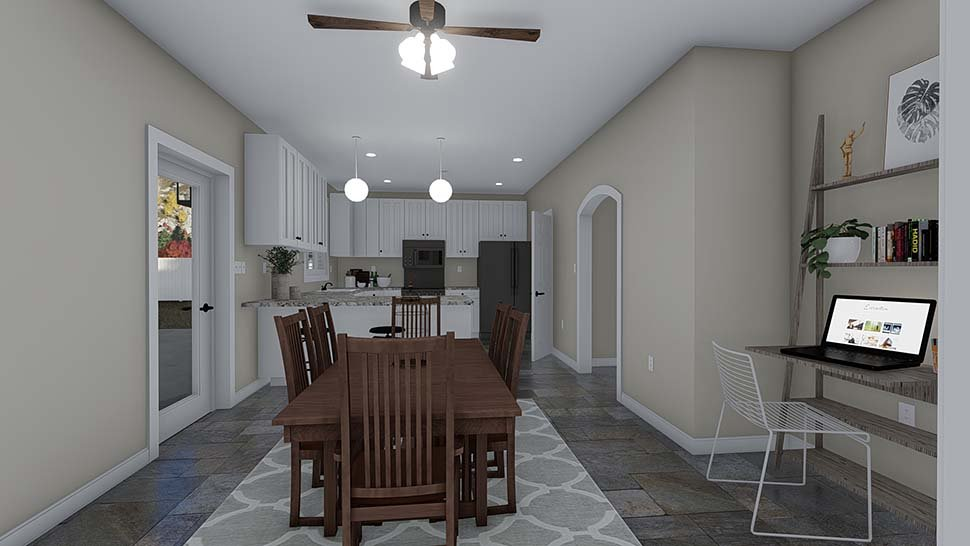 Traditional House Plan 50535 with 4 Beds, 2 Baths, 2 Car Garage Picture 12