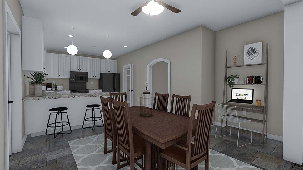 Traditional House Plan 50535 with 4 Beds, 2 Baths, 2 Car Garage Picture 13