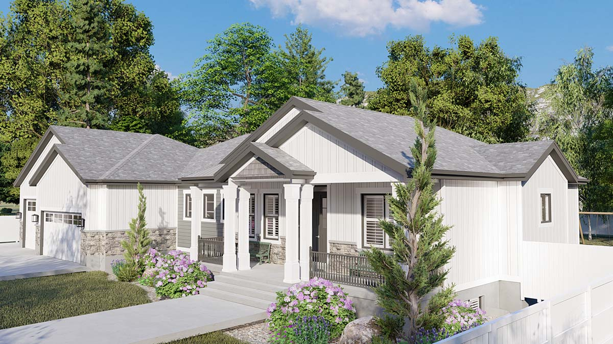 Craftsman, Ranch, Traditional House Plan 50536 with 6 Beds, 5 Baths, 3 Car Garage Picture 1